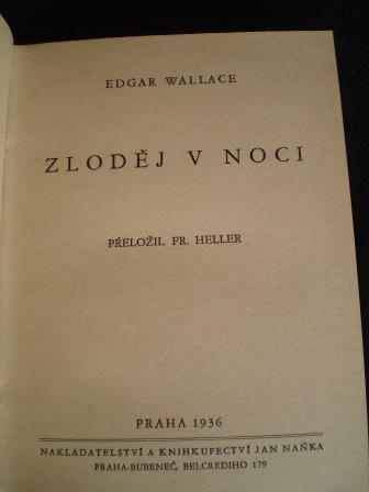 KALENDÁŘ - Edgar Wallace