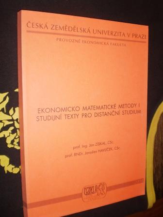 EKONOMICKO MATEMATICKÉ METODY I. - Jan Získal, Jaroslav Havlíček