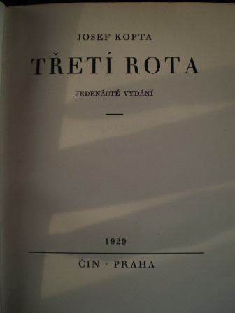 TŘETÍ ROTA - Josef Kopta