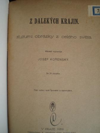 Z DALEKÝCH KRAJIN - Josef Kořenský