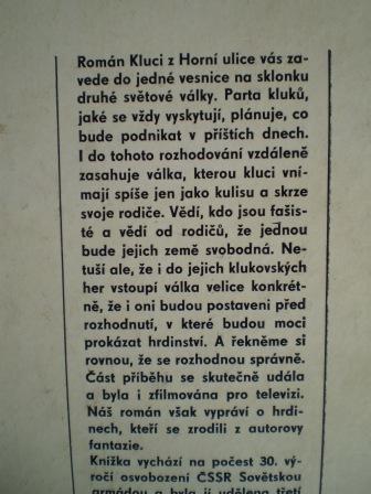 KLUCI Z HORNÍ ULICE - Zdeněk Vyhlídal