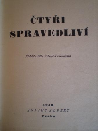 ČTYŘI SPRAVEDLIVÍ - Edgar Wallace