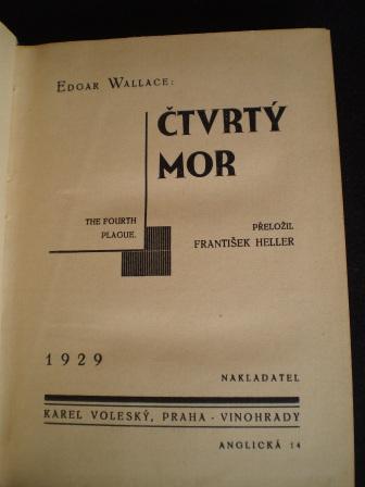 ČTVRTÝ MOR - Edgar Wallace
