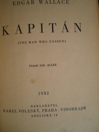 KAPITÁN - Edgar Wallace