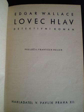 LOVEC HLAV - Edgar Wallace