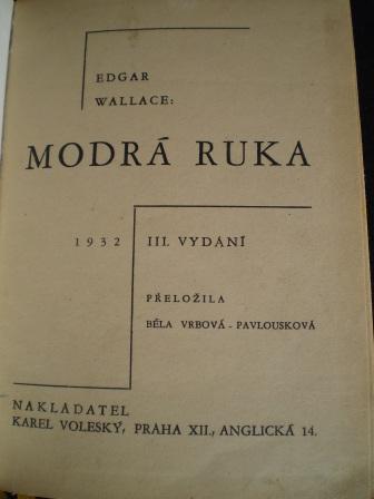 MODRÁ RUKA - Edgar Wallace