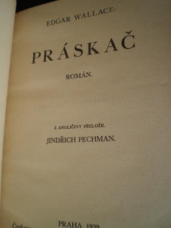 PRÁSKAČ - Edgar Wallace