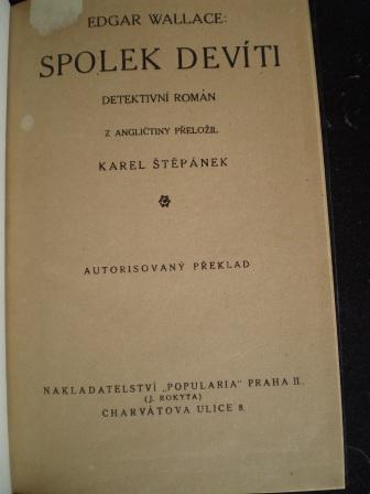 SPOLEK DEVÍTI - Edgar Wallace