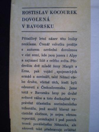 DOVOLENÁ V BAVORSKU - Rostislav Kocourek