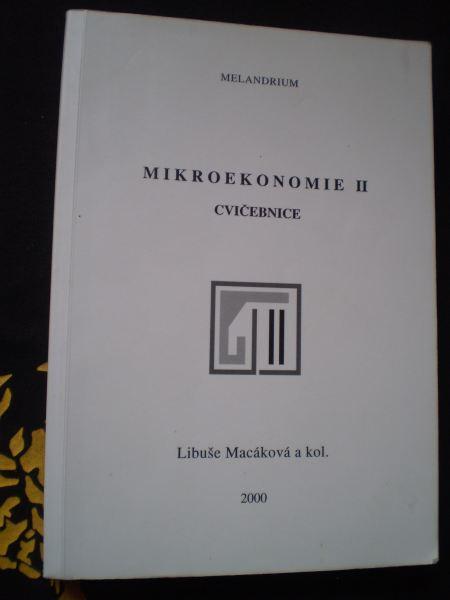 MIKROEKONOMIE II. - CVIČEBNICE