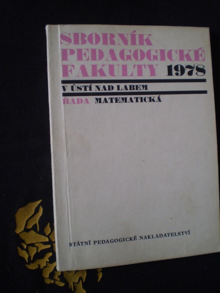 Sborník pedagogické fakulty v Ústí nad Labem 1978
