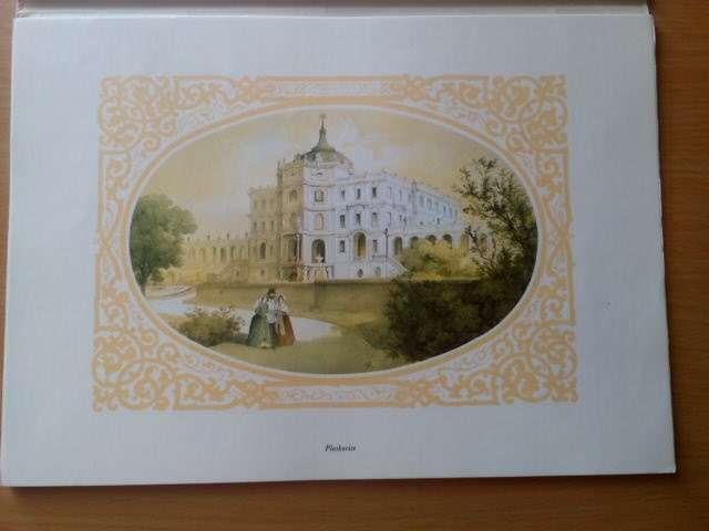 Dobové litografie severočeských zámků